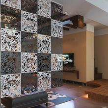 Biombos Haute quality New Fleur mur de papier peint autocollant pendaison screen rideau de separation nouvel Feshion decoration