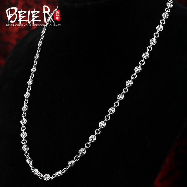 Beier new store 100% 925 silver sterling necklaces pendants classic crown fine jewelry chains necklace for women/men  BR925XL027