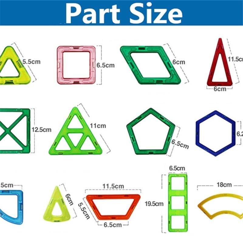 Blocos 46 pcs tamanho grande roda Material : Plástico