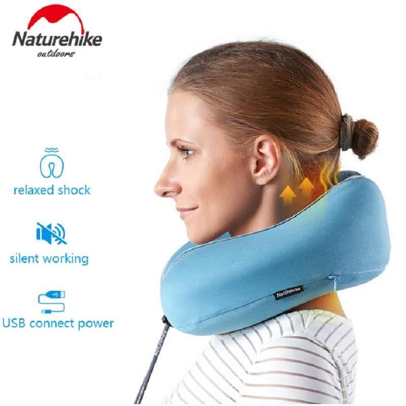Naturehike Vibrerende Massage Kussen U vorm Rebound Memory Foam Kussen Nek Schouder USB Opladen Outdoor Reizen NH18Z060-T