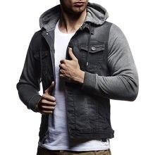 1be617949e4a1 ZOGAA chaqueta de mezclilla de otoño para hombre nueva marca chaqueta con  capucha Vaquero Slim Fit Streetwear chaquetas Casual a.