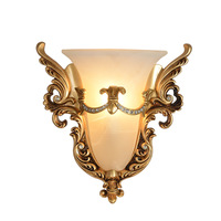 TUDA 34X35cm Free Shipping European Style Retro Wall Lamp Creative Design Resin Wall Lamp Frosted Glass Lampshade Wall Lamp E27