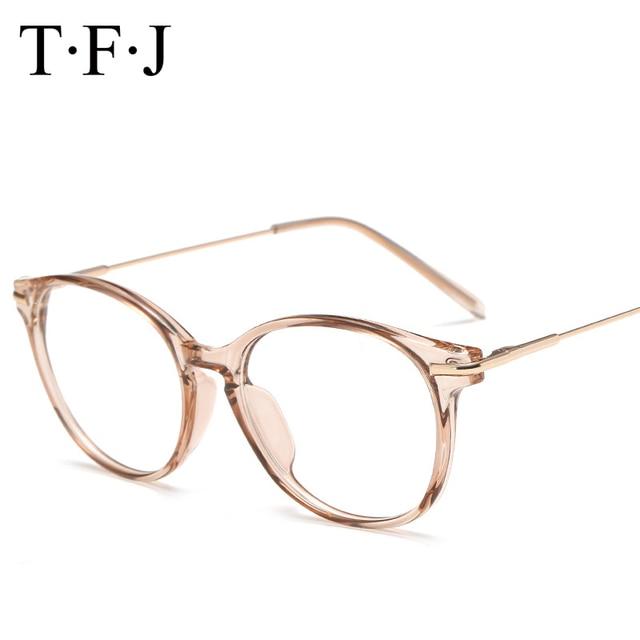 ddc20f0f9ade4 TFJ Mulheres Óculos de Miopia Óculos de Computador Óptico Transparente  Projeto do Frame Marca óculos Simples