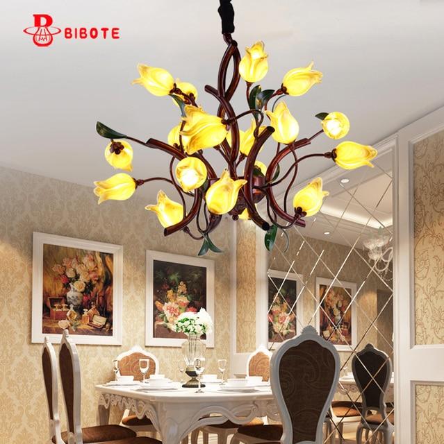 Design italien style fer art lustre whith led ampoules Plafond