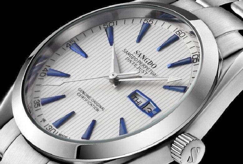 Мм 40 мм Sangdo бизнес часы Автоматический Self-Wind move для мужчин t Высокое качество Деловые Авто Дата для мужчин смотреть 047A