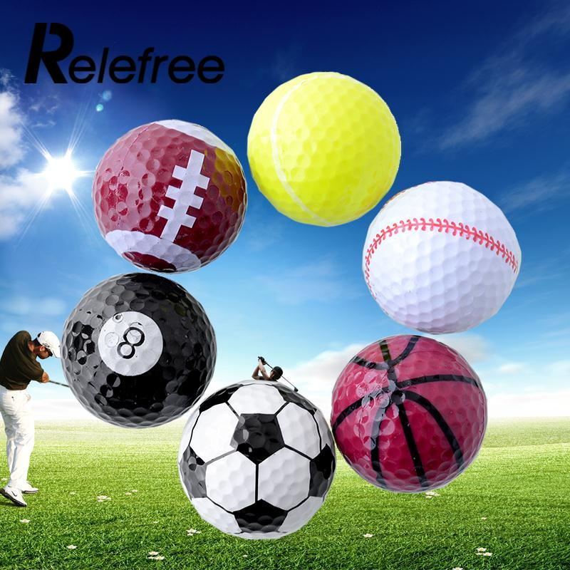 Relefree 6 PCs Novelty Assorted Creative Champion Sports Golf Balls Rubber