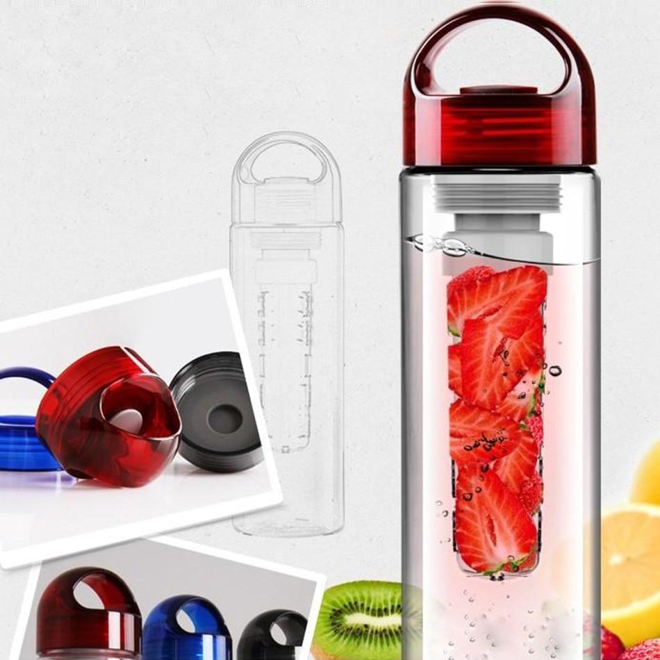 Fruit Infusing watter bottle Lemon Juice Maker 700ml Bike Travel Sports Health Cup