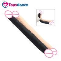 Toysdance 30 CM Echt Silikon Doppelkopf Dildo Sex Produkte Für Frauen Lesben Flexible g-punkt Anal Penis Dongs Cock Für Mädchen