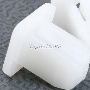 Image 5 - 50 個ホワイト正方形の自動車ファスナー自動車バンパーファスナーリベット保持クリッププッシュエンジンカバーフェンダー車のドアトリムパネルクリップ