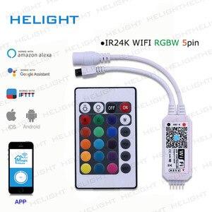 Image 4 - DC12 28V мини WIFI RGB/RGBW контроллер полосы музыкальный контроллер Alexa Google домашний телефон WIFI контроллер для полосы светильник