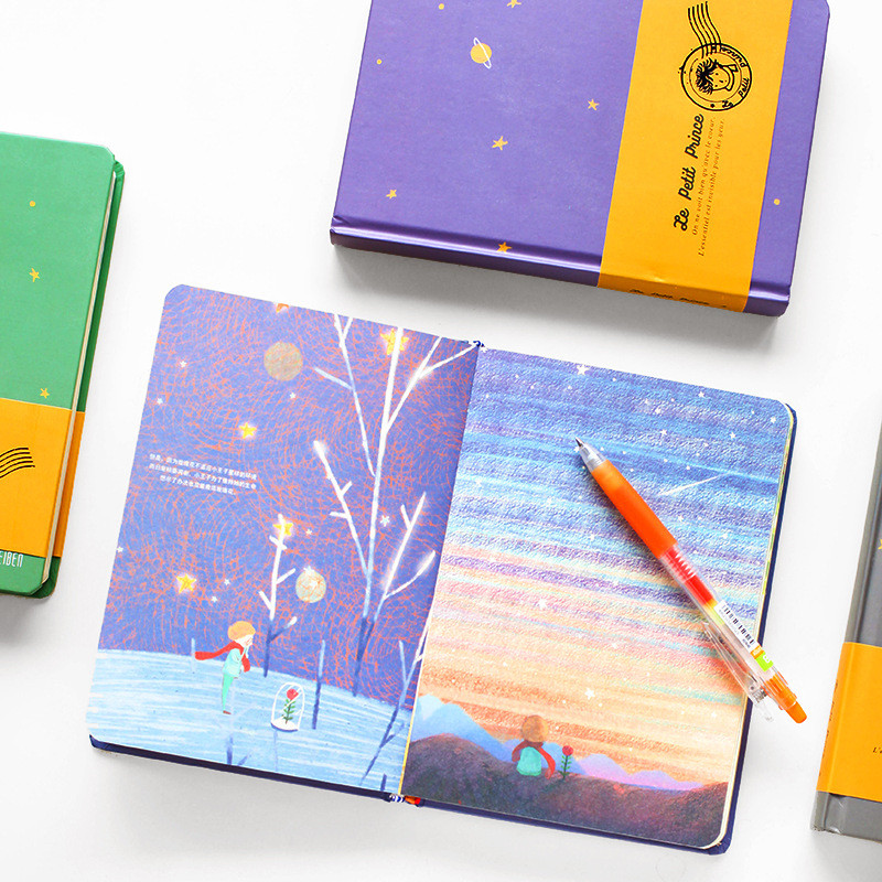 Free Shipping The Little Prince Notebook School & Office Supply Vintage Color Page Accessory Diary Book Notepad Retro Stationery