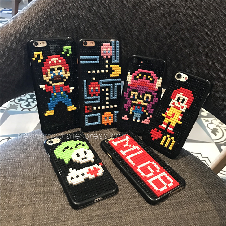 Interesting Style DIY Legos Shockproof Case For Iphone 7 Plus 6 6s Plus Anti-knock For p ...