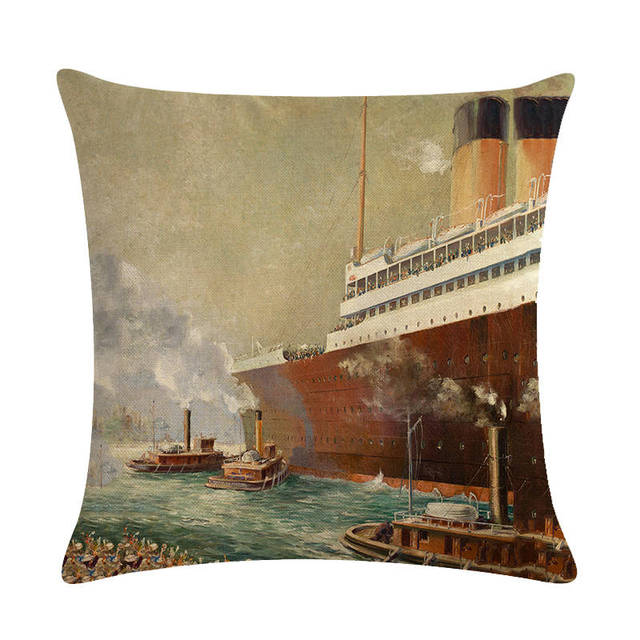 Old Fashioned Ship Cushion Covers  5