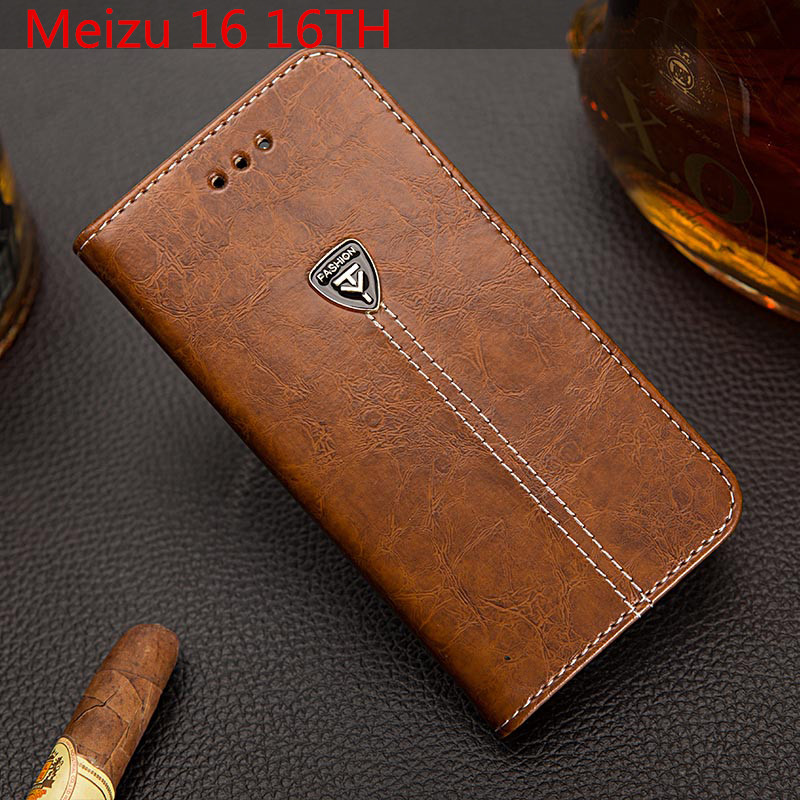 EFFLE For Meizu 16th Case Silicone Cover 6.0'' PU Leather Wallet Card Holder Phone Case For Meizu 16 16TH Flip Back Cover Shell
