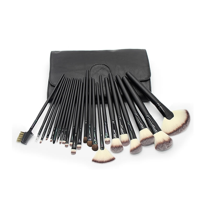 Happy Makeup Brushes Set Professional 24 Pcs Eyeshadow Face Powder Blush Foundation Eyebrow Lip Brush Kit with PU Leather Bag pro 15pcs tz makeup brushes set powder foundation blush eyeshadow eyebrow face brush pincel maquiagem cosmetics kits with bag