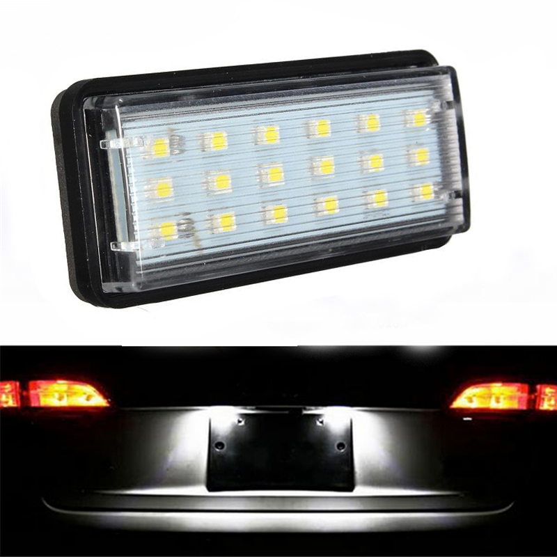 Free Shipping White Car LED Number License Plate Light Kit For Lexus LX470 GX470 Toyota Land Cruiser 120 Prado Land Cruiser 200 2pcs error free led smd license plate light for toyota land cruiser lexus gx lx470 new dropping shipping