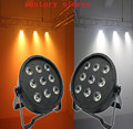 (2pcs/lot) led RGBAW Powered Wireless LED Flat Par Light With DMX512,ADJ LED Par Can For Event Wedding Party