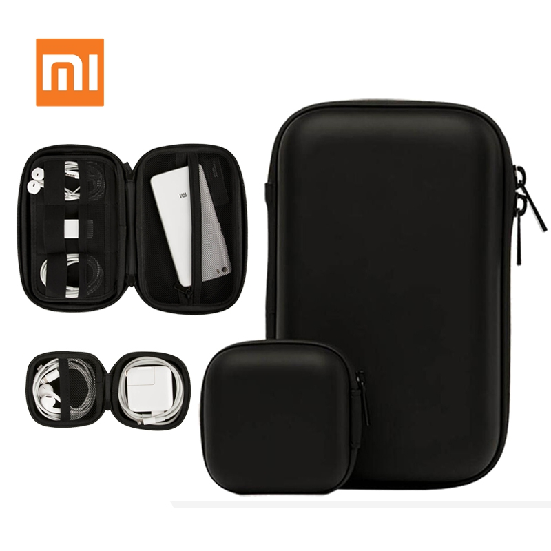 Xiaomi HX Multifunctional Digital Storage Box/Earphone Storage Case For Headphone Accessories Earbuds Memory Card USB Cable B D5