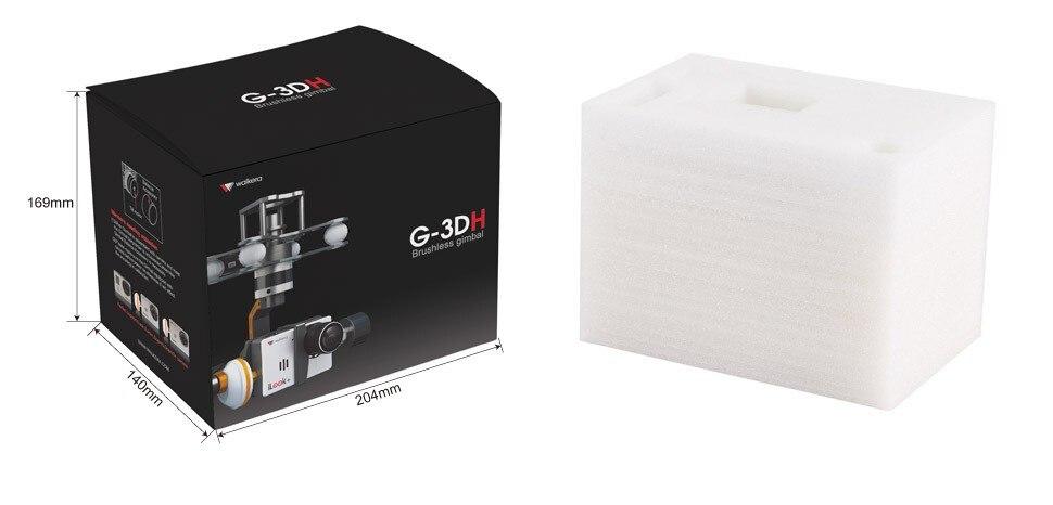 Livraison gratuite Walkera G-3DH sans brosse rotatif caméra Support de cardan iLook + Gopro3/3 + Gopro4 caméra 360 degrés contrôle d'inclinaison FPV - 6