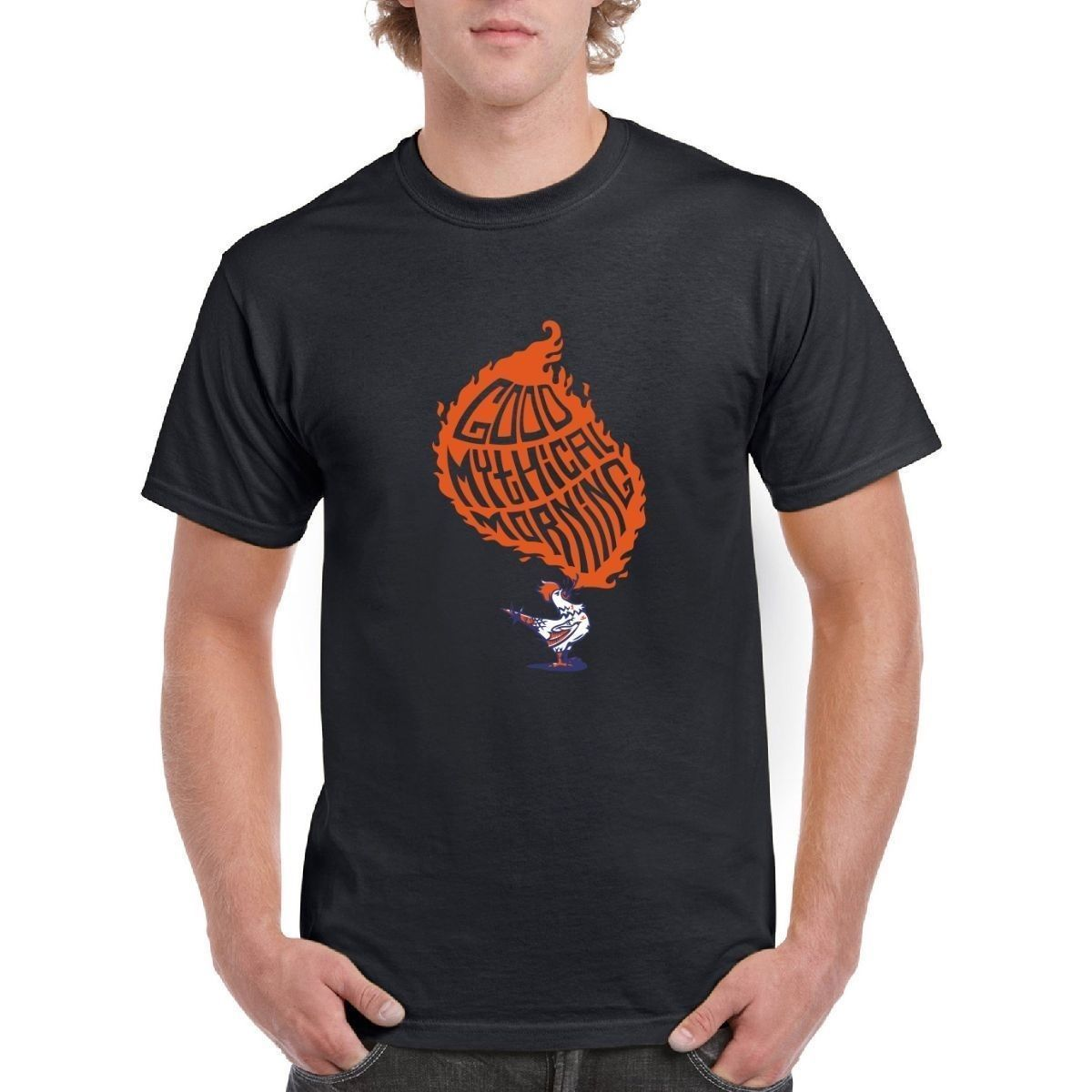 New Metal Short Sleeve Casual Shirt New Good Mythical Morning Funny Mens T Shirt