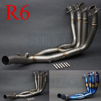 NEW 51MM Middle Pipe Full System Motorcycle Modified Muffler Pipe Front Header Pipe Tube FOR YAMAHA YZF R6 2006 2014 Year AK189