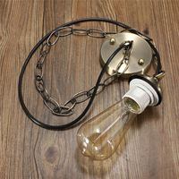 E27 E26 Lamp Base Edison Modern Ceiling Rose Chain Pendant Chandelier Light Bulb Lamp Holder Socket