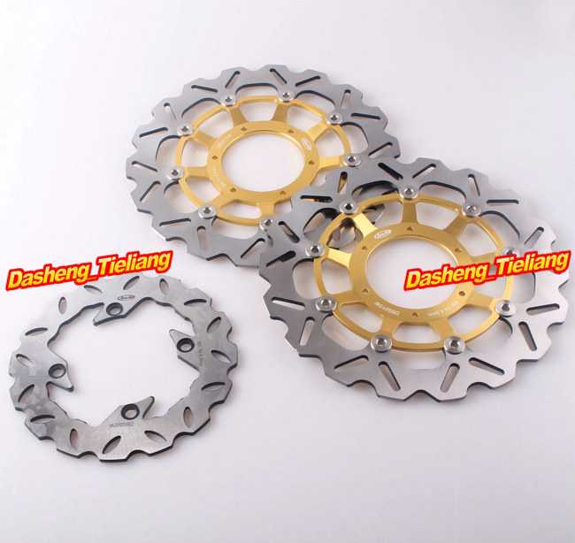 Front Rear Brake Disc Rotors Set For Honda 2004 2005 CBR1000RR & CBR600RR ABS 2009 2010 2011 2012 2013 2014 2015 brand new front brake disc rotors motorcycle for honda cbr600rr 2003 2004 2005 2006 2007 2008 2009 2010 2011 2012 2013 2014