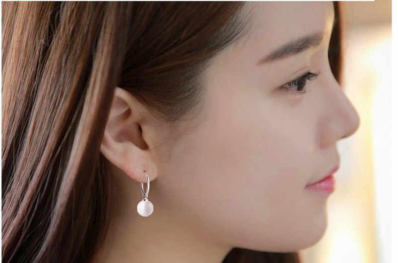 1 คู่ต่างหู Ear Stud เครื่องประดับต่างหูไข่มุกเรียบง่ายออกแบบสไตล์