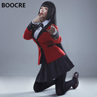 Anime Kakegurui Jabami Yumeko Cosplay Costume Japanese High School Uniform Cosplay Costume Halloween Party Cosplay Send