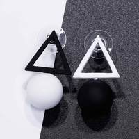 FAMSHIN Triangle Different Candy Color Earrings For Women 2017 Fashion Stud Earrings From Korean Earings Jewelry