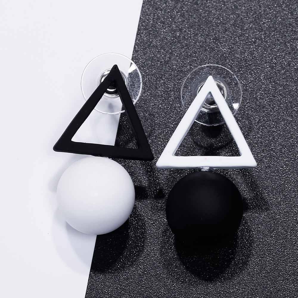 Famshin Треугольники различных Карамельный цвет Серьги для Для женщин Мода 2017 г. Серьги-гвоздики от корейского серьги ювелирные изделия