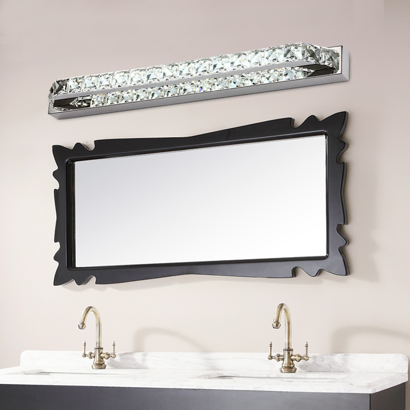 Aliexpress.com : Buy ECOBRT Good Quality 10W Crystal Wall Lamps 40CM Long LED  Bathroom Mirror Bar Lights Fixture Indoor 110V / 220V AC From Reliable  Steel ...