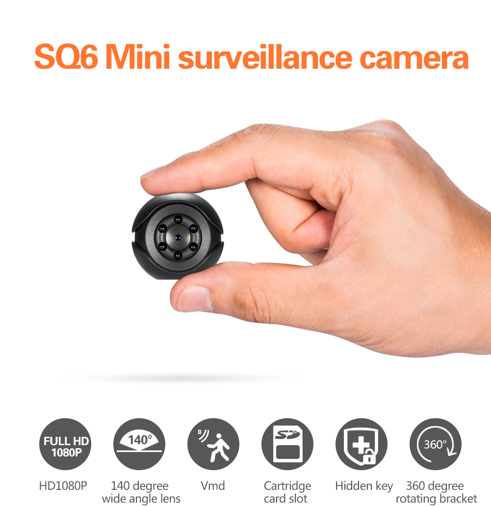 SQ6 Full HD 1080P Mini Sport Camera Night Vision Motion Sensor Sport Camcorder DVR Video Voice Recorder Micro Nanny Secret Cam image