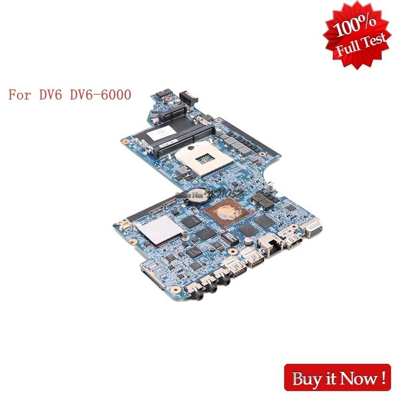 NOKOTION For HP Pavillion DV6 DV6-6000 650799-001 Laptop motherboard HM65 2GB Notebook System board Tested! цены онлайн