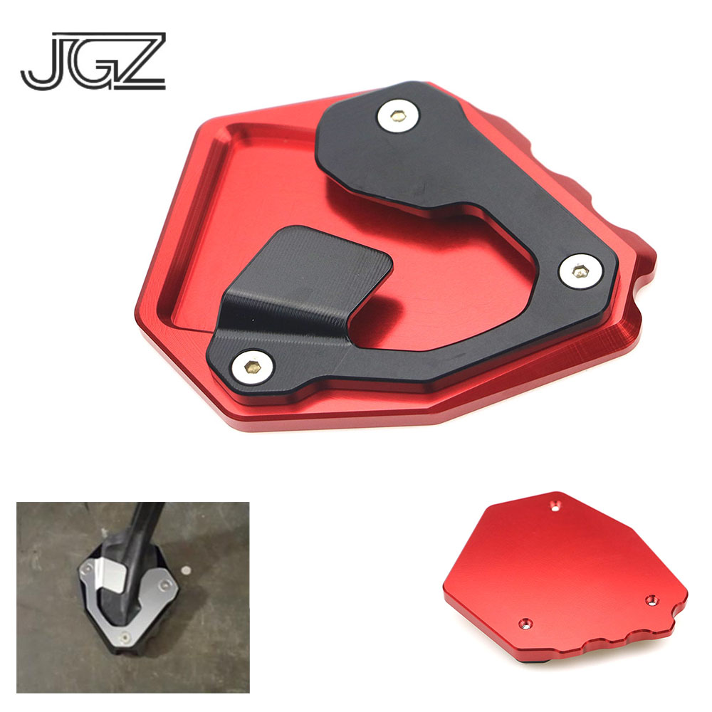 CNC Motorcycle Kickstand Foot Side Stand Extension Pad Plate For For Honda CRF1000L Africa Twin 2016 2017 2018,Black