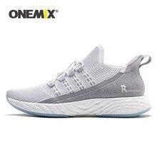 ONEMIX-Zapatillas de correr ultraligeras originales para hombre y mujer, zapatos de tenis reflectantes transpirables, zapatillas con motivos de material vulcanizado, 2021