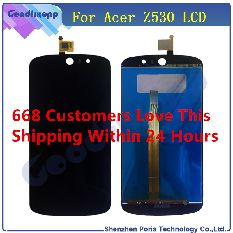Mobile Phone LCD For Acer Liquid Z530 LCD Display Touch Screen Digitizer Assembly Replacement Parts LCD Display For Acer Z530