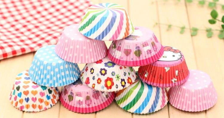 25PCS LOT8 Design Muffin Cups Craft Material Kindergarten Arts And
