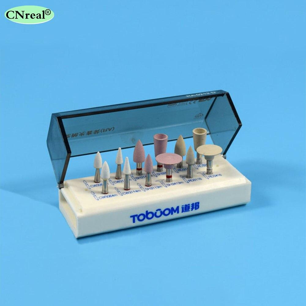 1 set dents dentaires en porcelaine taillées Kit de polissage haute luminosité Polishier à dents pour outil à main contre-Angle à basse vitesse RA0212D