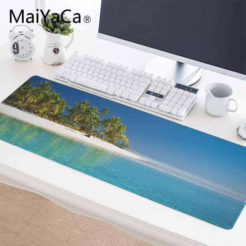 Computer Peripherals Maiyaca Deck Chairs On The Beach Natural Rubber Gaming Mousepad Desk Mat Hot Selling Fashion Design Mouse Mat Gaming Mouse & Keyboards