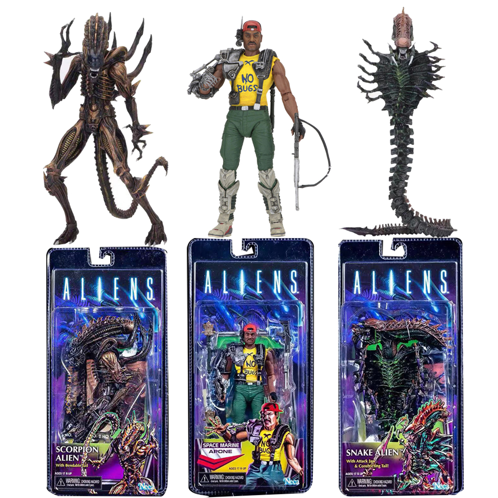 2019 NECA 13th Lineup Aliens VS Predator Scorpion Snake Alien Sgt Apone Kenner Action Figure Toy2019 NECA 13th Lineup Aliens VS Predator Scorpion Snake Alien Sgt Apone Kenner Action Figure Toy