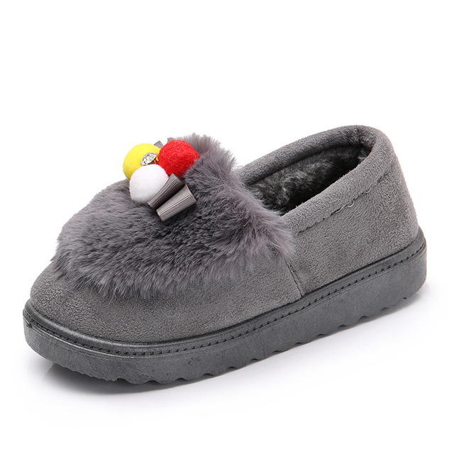 Winter Children Slippers Boys Girls House Cotton Sheep Shoes Kids Slippers  Indoor Baby Fur Warm Slippers Children Shoes 41044fd8726f
