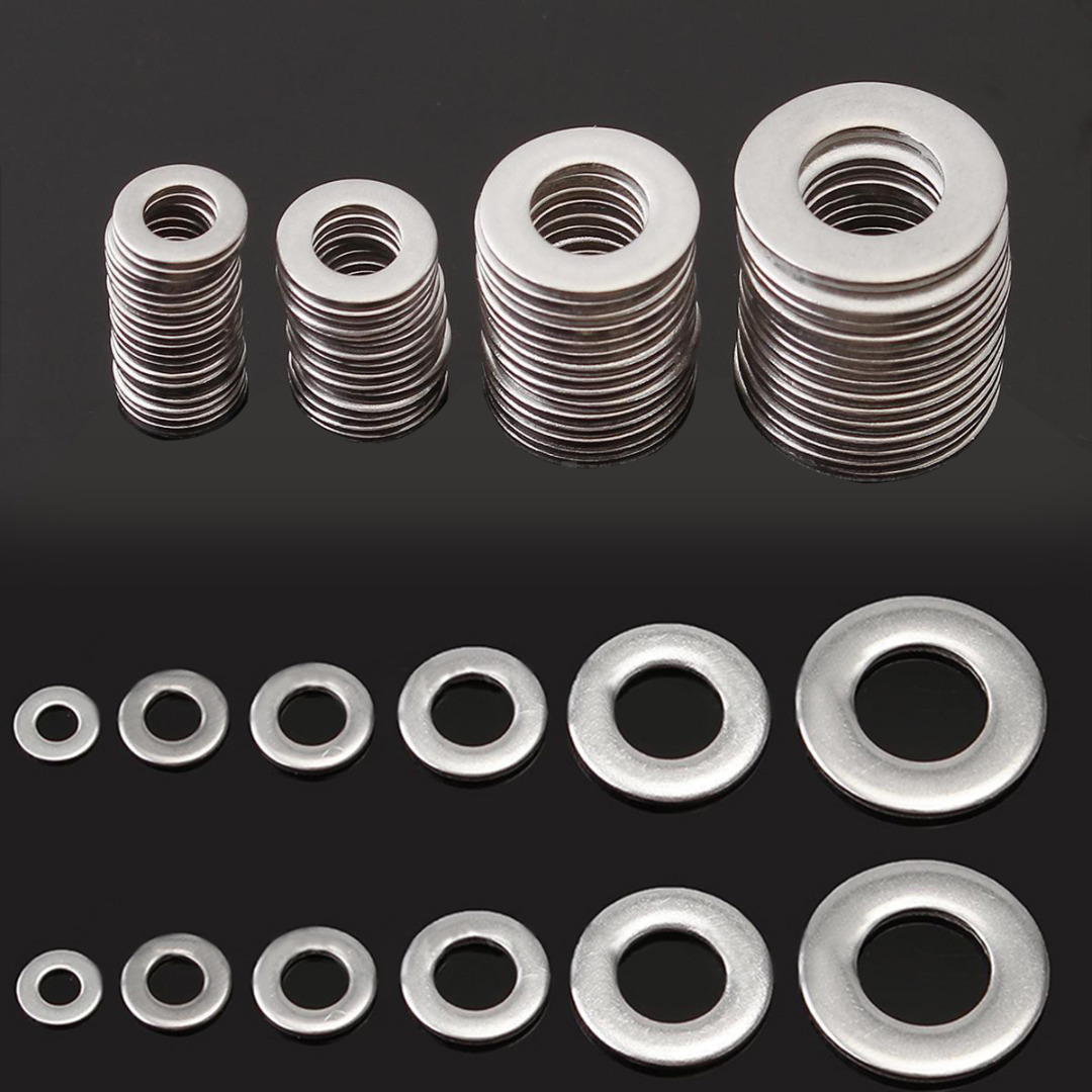 105pcs 304 Stainless Steel Washers Metric Flat Gasket Kit M3 M4 M5 M6 M8 M10 For Hardware Accessories 5pcs 304 stainless steel capillary tube 3mm od 2mm id 250mm length silver for hardware accessories