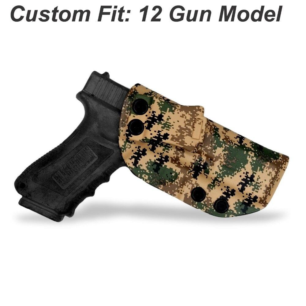 B.B.F Make MARPAT MARine PATtern IWB KYDEX Gun Holster For: Glock 19 17 23 26 28 43 P320 VP9 Inside Concealed Carry Pistol Case figurine