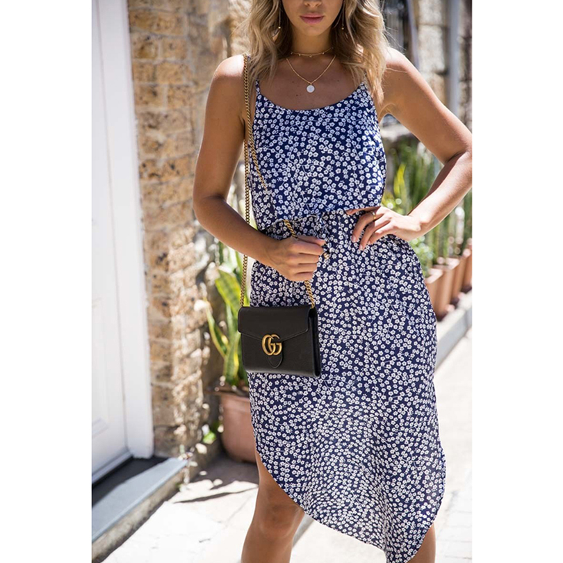 Sexy V Neck Dot Print Women Dress Long Vintage Sleeveless Pleated Female Dress 2019 Summer Style Fashion Casual Beach Clothing in Dresses from Women 39 s Clothing