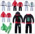 2015 children new clothes sets Zipper boys sport suit boy sets hooded coat + Pants 2 PCS 100% cotton clothing clothing