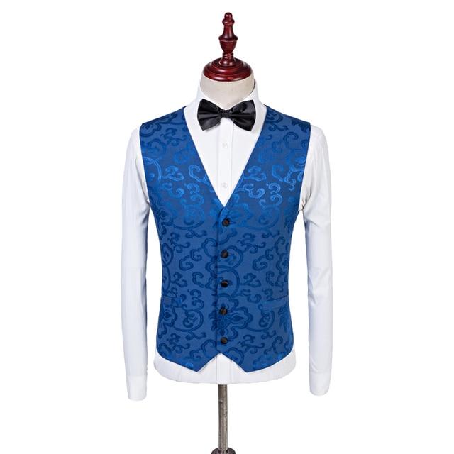 Aliexpress.com : Buy 2017 Custom Made Royal Blue Men Blazer Vest ...
