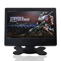 7 inch 1024x600 IPS LCD Full HD Portable monitor HDMI monitor, AV input/VGA/HDMI black plastic shell