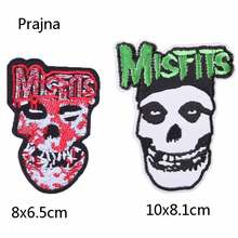 Prajna Misfits Patch Craft Adhesive Patches Applique Stickers For Clothes Embroidered Sewing Clothes Garment Apparel Badges F