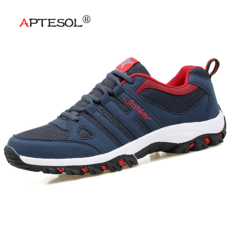 APTESOL Air Mesh Men's Light Sport Running Shoes Breathable Brand Sport Sneakers Mens Outdoor Walking Jogging Athletics Shoes